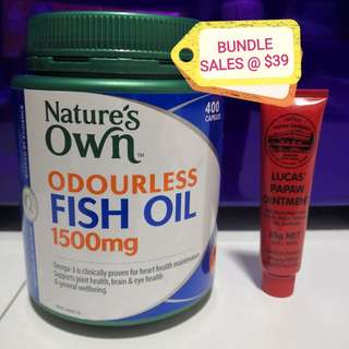 Nature's own Fish Oil + Lucas only $39