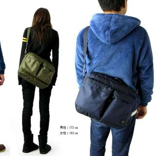 PORTER school shoulder bag a4 斜咩袋 側背包 書包