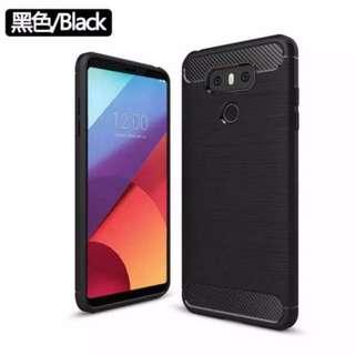 LG G6 碳纖 拉絲紋 磨砂 TPU 保護套 機套 膠套 ( 黑色 )
