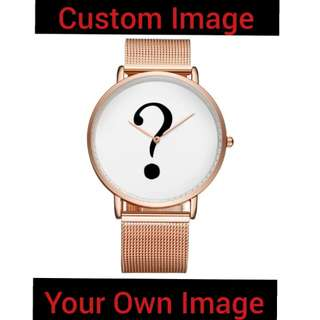 Private Label Stainless Steel Watch Custom Brand Your Own Watch Trend Design Printed with Logo on Watch