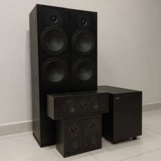 Jamo S416 : 5.1 Floorstanding Speakers with SubWoofer HCS 3 Home Theatre System