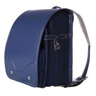 Japanese schoolbag locks - children's backpack - backpack blue Japanese satchel (full automatic lock button), used 2 times only, still in very good condition