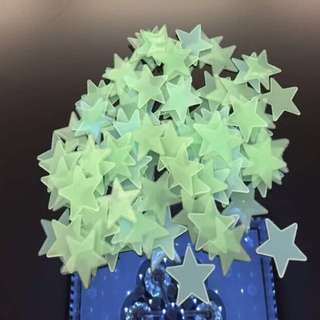 ⭐️3cm Night Light Star Wall - 100pcs⭐️