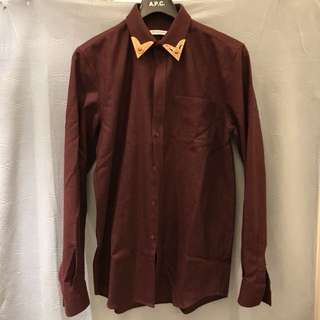 Givenchy Cuban Fit Metal tipped cotton western shirt