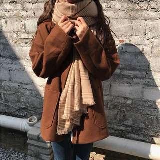 韓國复古格子百搭加厚披肩,亦可作圍巾之用🧣  4色款都好靚,質料好,易襯衫