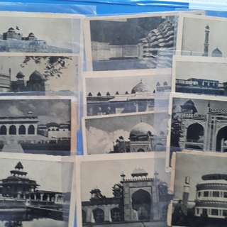 12 Piece LOT - vintage BLACK & WHITE Post Card of Taj Mahal Agra Delh india l14