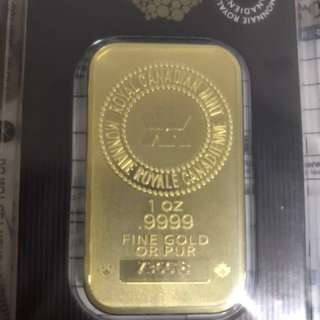 Royal Canadian Mint 1oz Gold Bar
