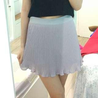 Pleated purple skort (rok celana)