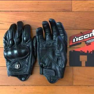 ICON Pursuit Stealth Perforated Gloves (BNWT)