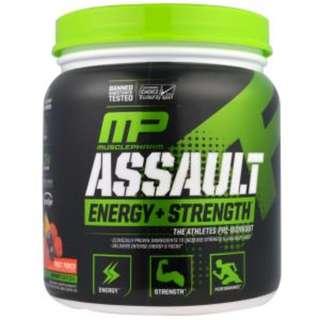 MusclePharm, Assault, Energy + Strength, Pre-Workout, Fruit Punch, 12.17 oz (345 g)