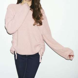 粉紅色束帶毛衣 chanel Gucci ysl lv prada