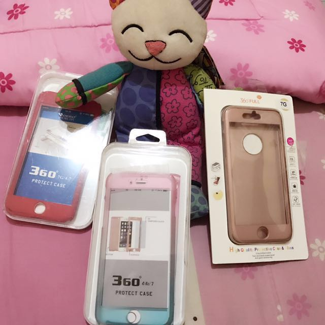 360 Full protection case Iphone 7 pink rosegold