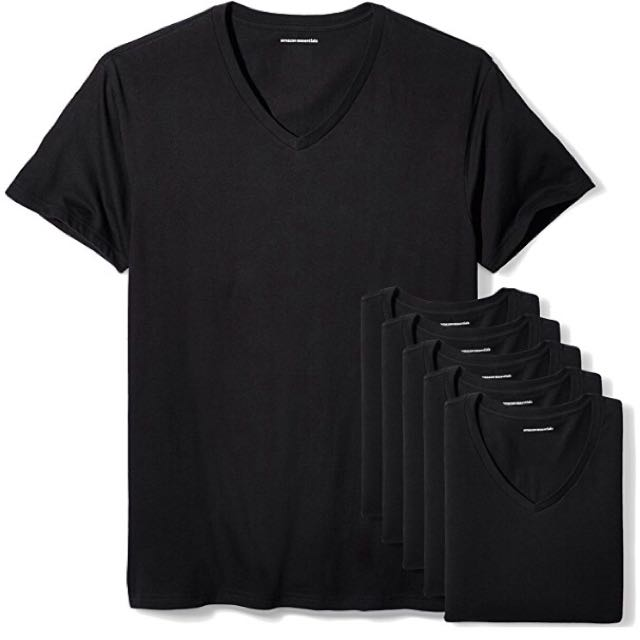 BNEW 3-pack plain black v-neck shirt