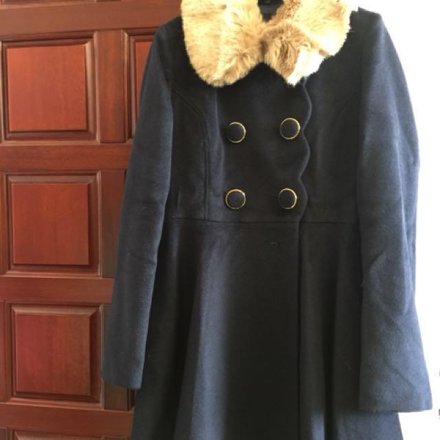 時尚短大衣(藍)