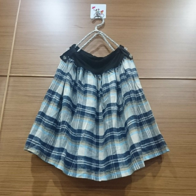 大出清~不議價…全新毛料格紋裙 #冬季衣櫃出清