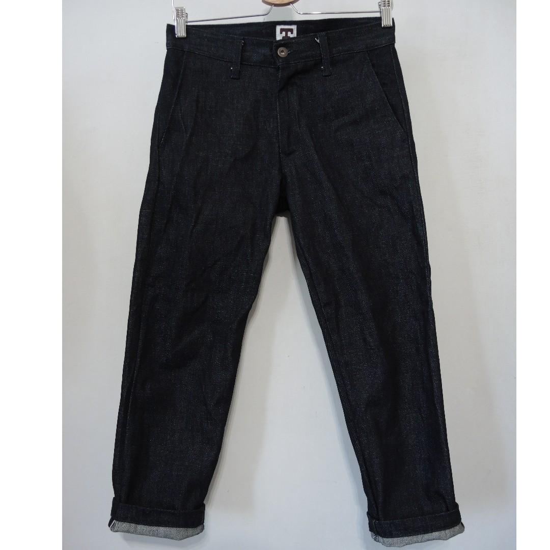 日本限定九分褲 Tellason DENIM TROUSER Selvedge 直筒 牛仔褲 原色 美國製