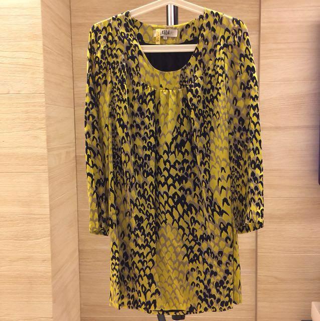 紐約品牌 Tibi 100%真絲洋裝 0號