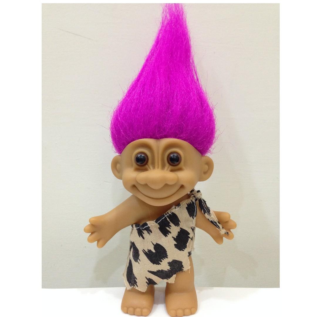 幸運小子 (摩登原始娃)醜娃、巨魔娃娃、醜妞、Troll Doll、魔髪精靈