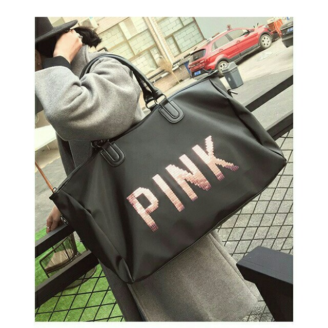 ABS high quality pink traveling bag victoria secret