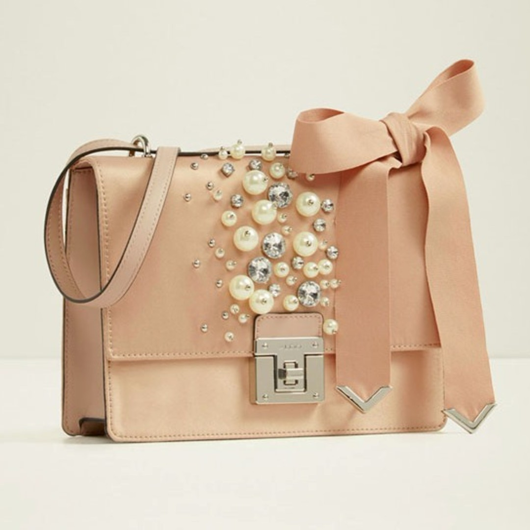 Aldo Pearls-Detailed Satchel (KF)