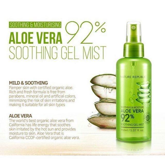 Aloe vera soothing gel mist