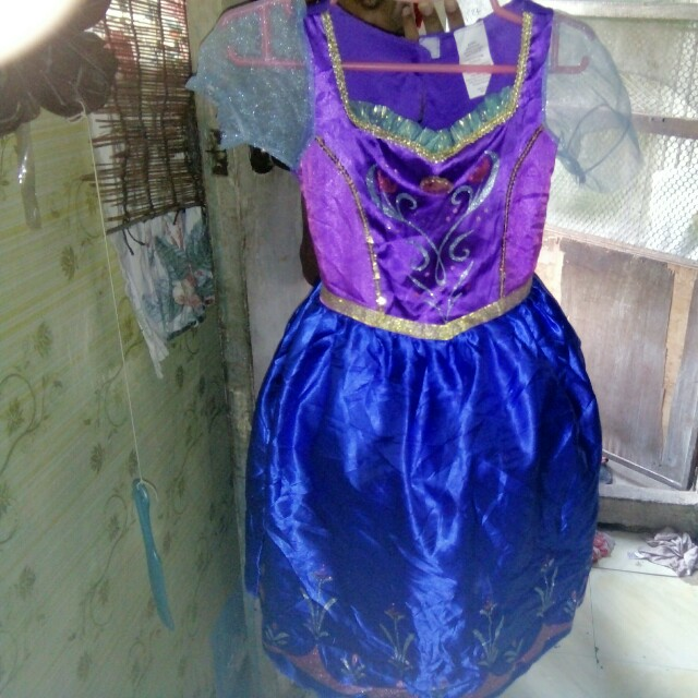 Anna costume with wire 4-6 yrs old
