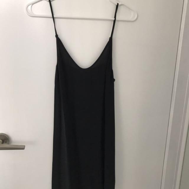 Aritzia Black Slip Dress