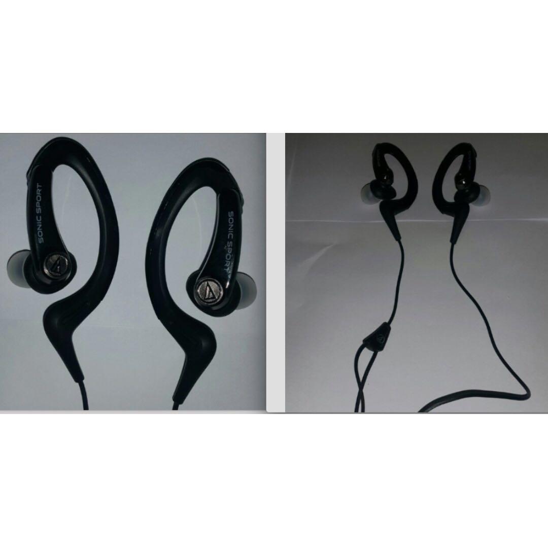 鐵三角audio-technica ATH-SPORT1 耳掛式運動耳機(可水洗 )