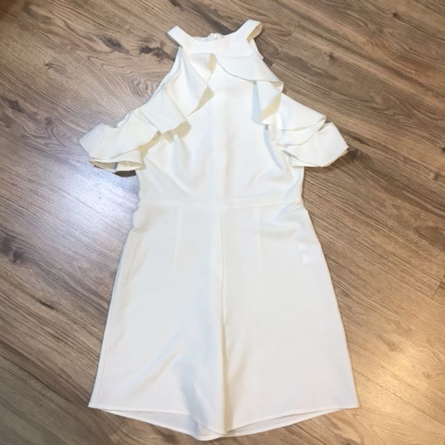 ⬇️Authentic Asos White cold shoulder romper Playsuit #NYB50