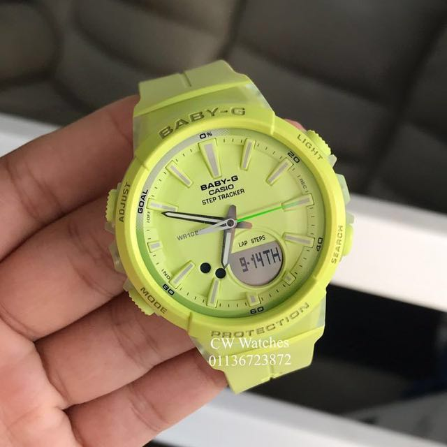 b4877bf2827 Authentic Brand New Casio Baby-G BGS-100-9A Running Series With Step ...