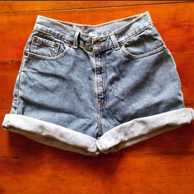 Authentic Levi's High Waist Shorts