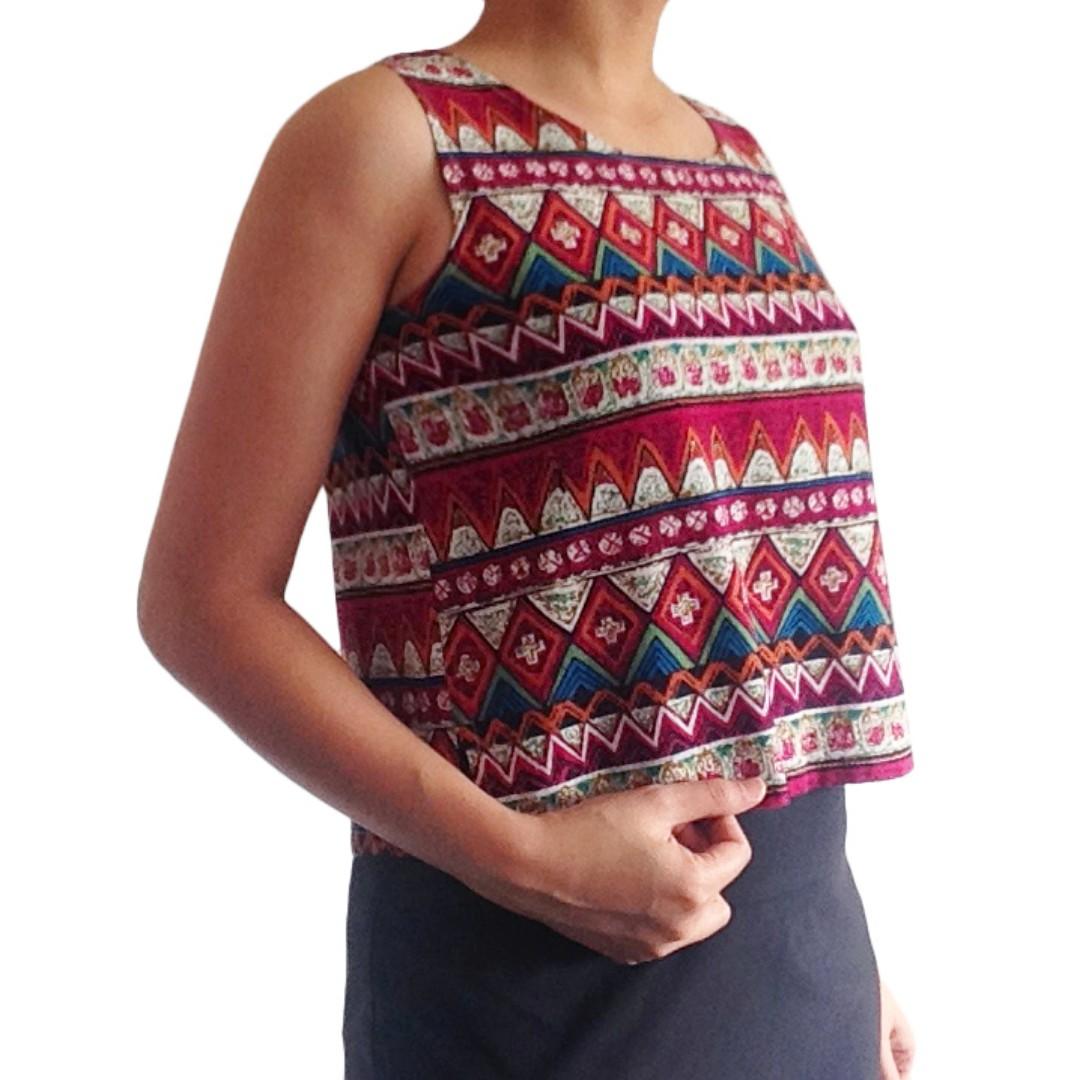 Aztec Crop Top