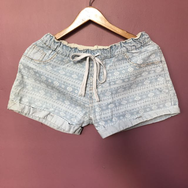 Aztec Denim Shorts