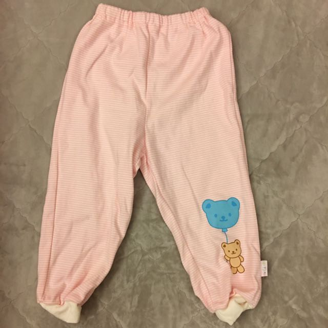 baby kitty粉紅條紋棉褲