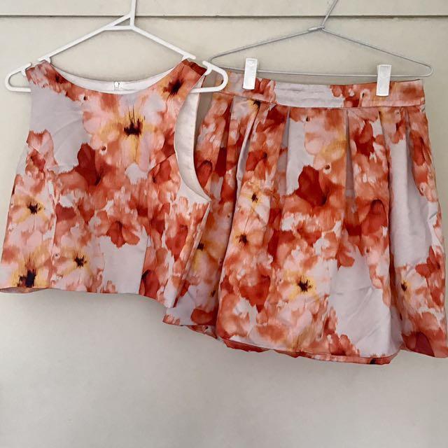 Bardot top and skirt