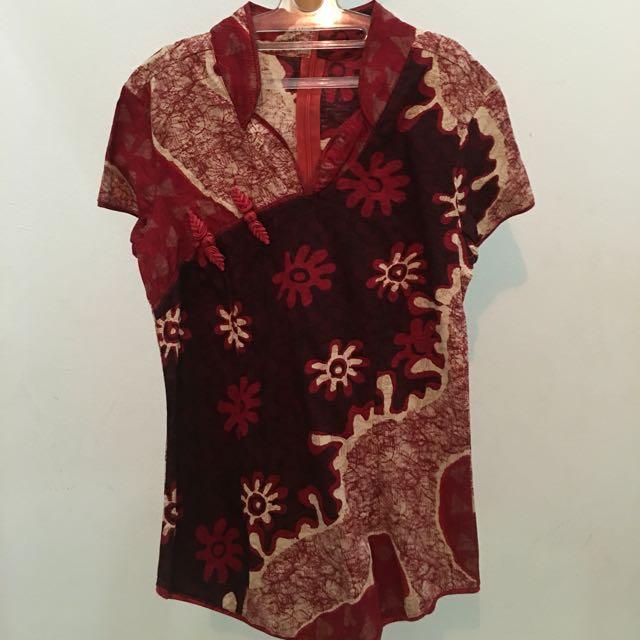 Batik Cheongsam size S (Hanya Pernah Dipakai Sekali)