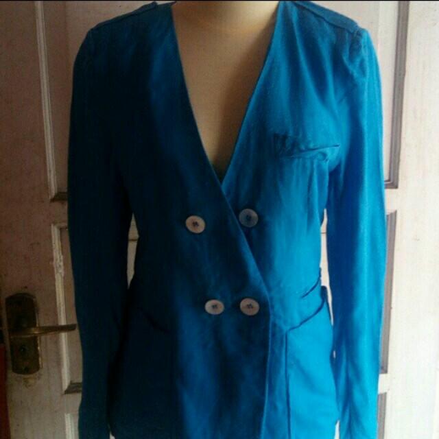 Blazer Blue Button Vintage