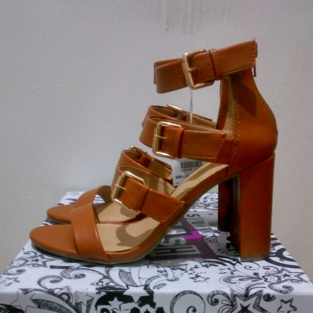 Brasrh brown high heels payless