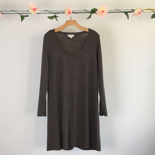 Brown Witchery Scoop Neck Dress