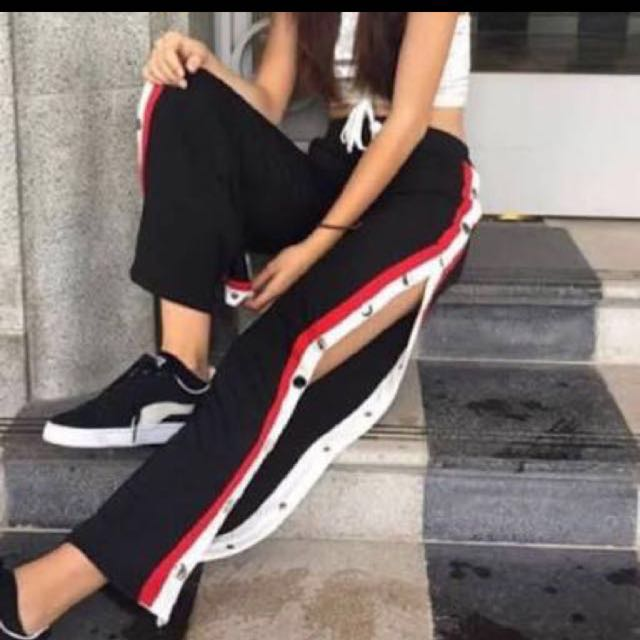Button track pants