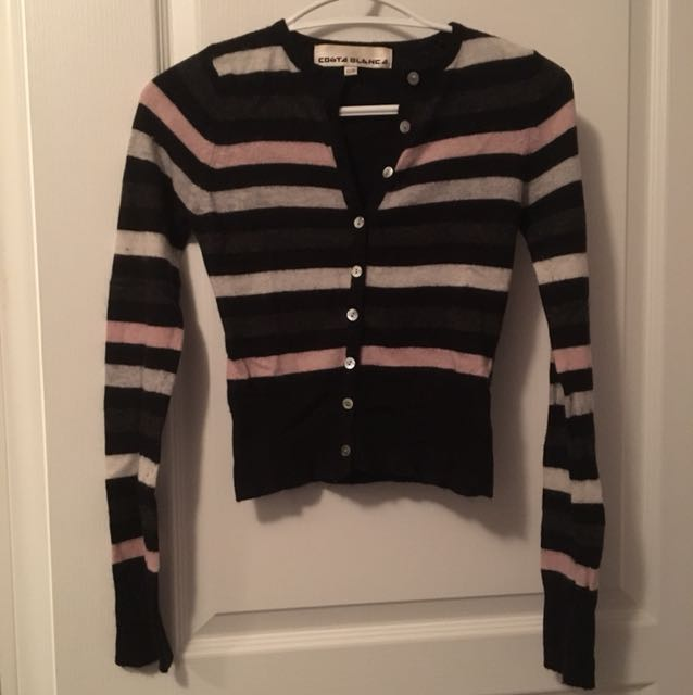 CB striped cardigan