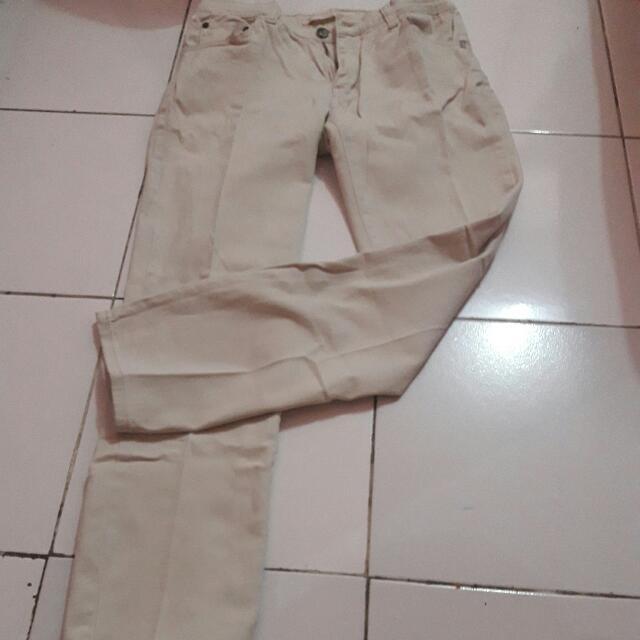 celana panjang basic cream