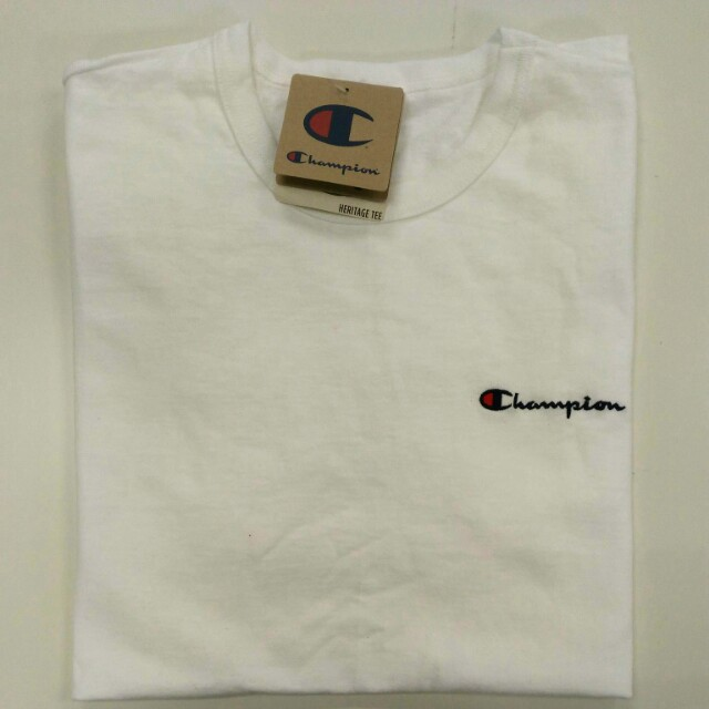 d0696fd65 Champion Life® Men's Heritage Tee, Script Logo - White, Men's Fashion,  Clothes on Carousell