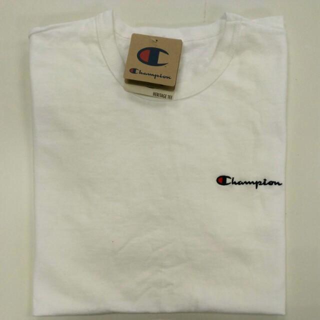 64175d15f Champion Life® Men's Heritage Tee, Script Logo - White, Men's Fashion,  Clothes on Carousell