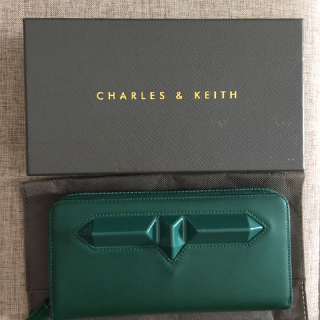 Charles & Keith wallet green