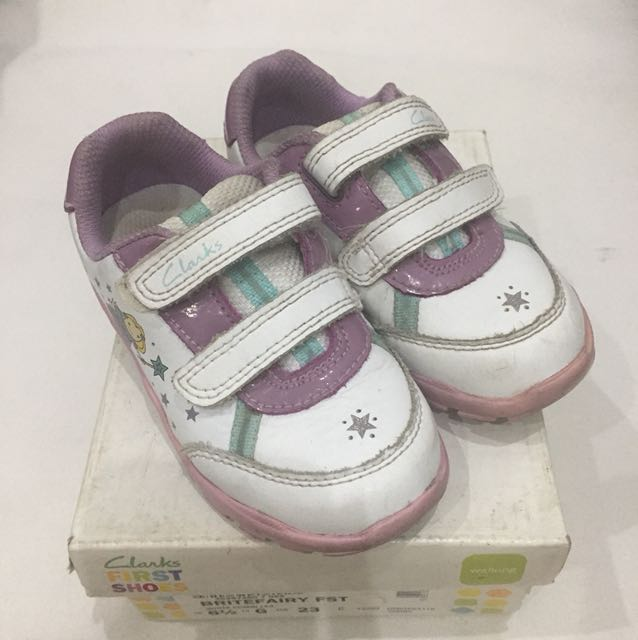 Clarks First Shoes White Sneakers