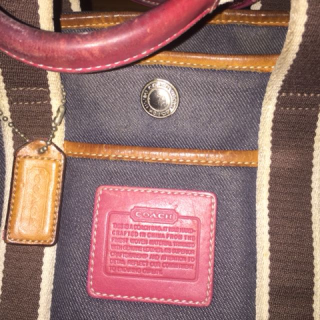 Coach denim bag