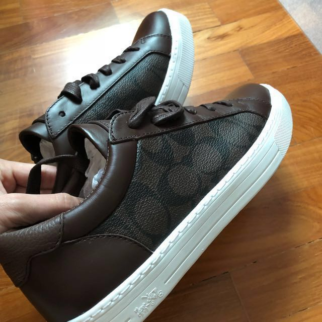 Coach leather sneakers #Contikit2018