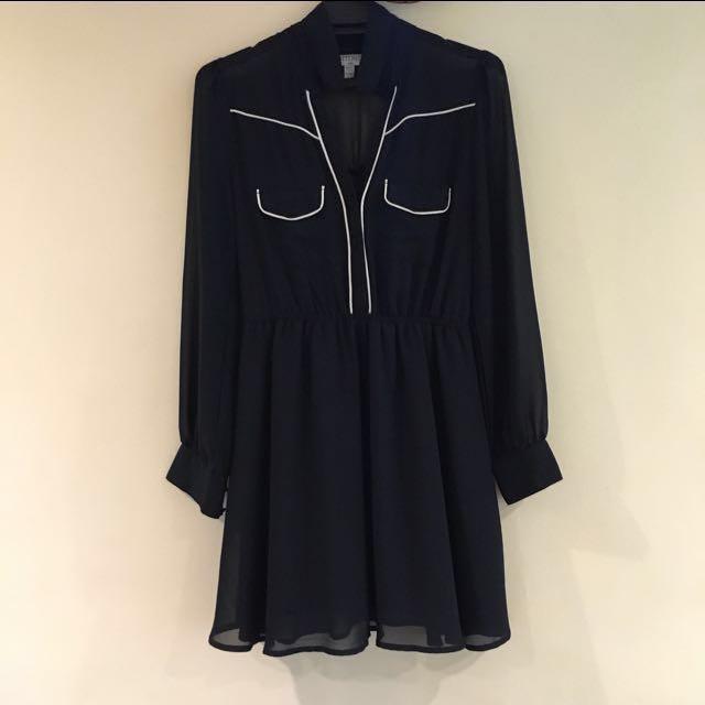 Cotton On Long Sleeve Chiffon Dress