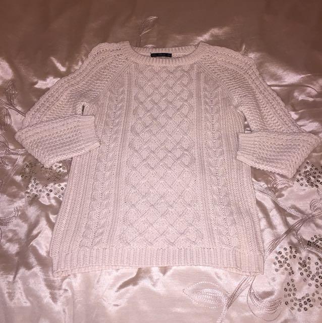 Cream Zara knit